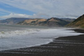black sands of the Lost Coast Trail