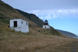 Approaching the Punta Gorda lighthouse on the Lost Coast Trail.