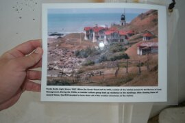 A pic of what the Punta Gorda lighthouse used to look like in the 1960s on the Lost Coast Trail.